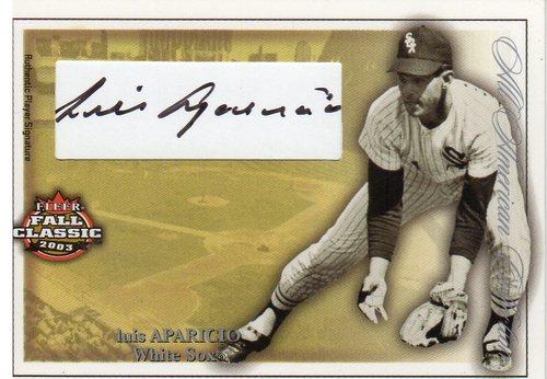 Photo of 2003 Fleer Fall Classics All-American Autographs 100 #LA Luis Aparicio