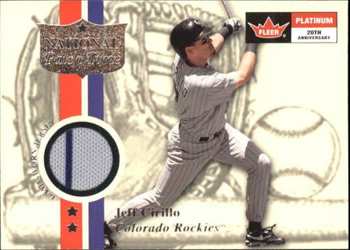 Photo of 2001 Fleer Platinum National Patch Time #9 Jeff Cirillo S1
