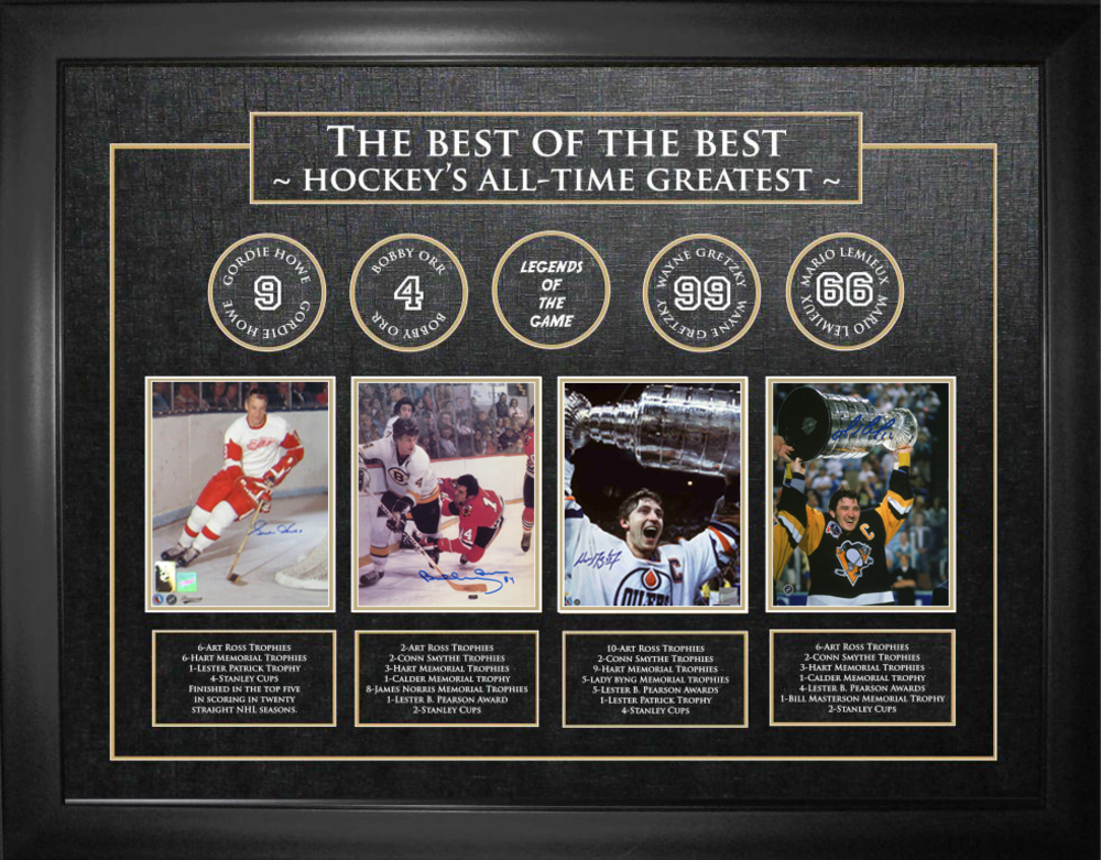 Best of The Best Signed Howe/Orr/Gretzky/Lemieux