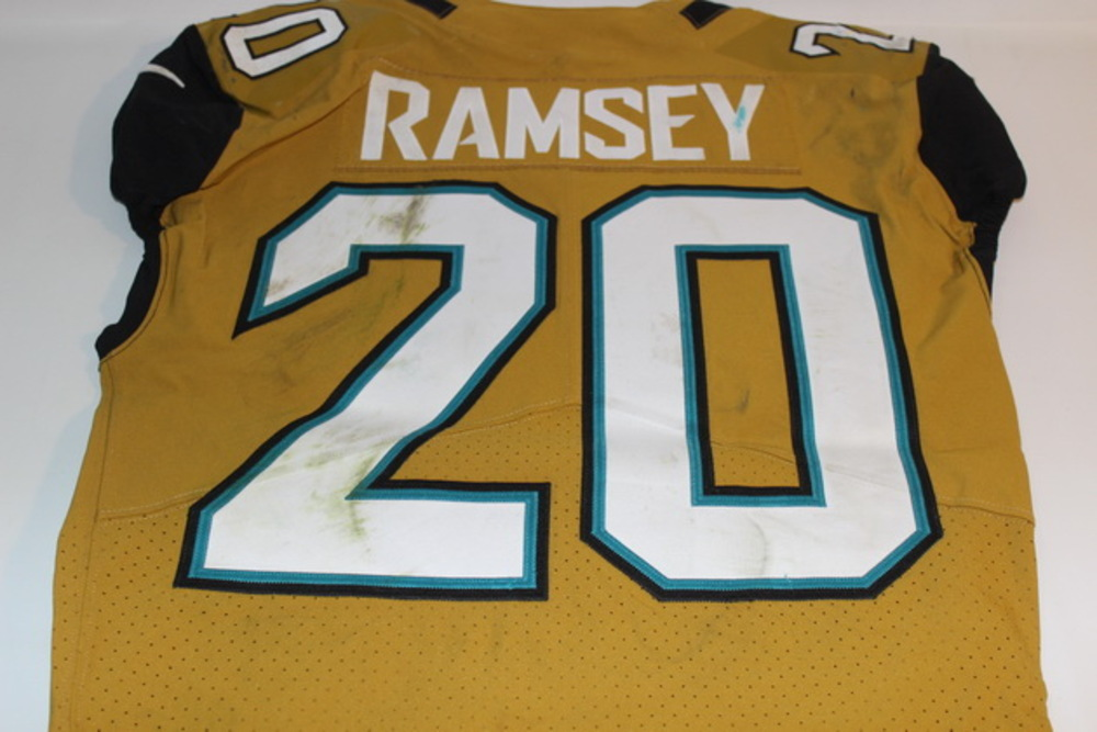 purchase cheap d92a1 bea0c NFL Auction | JAGUARS - JALEN RAMSEY GAME WORN JAGUARS COLOR ...
