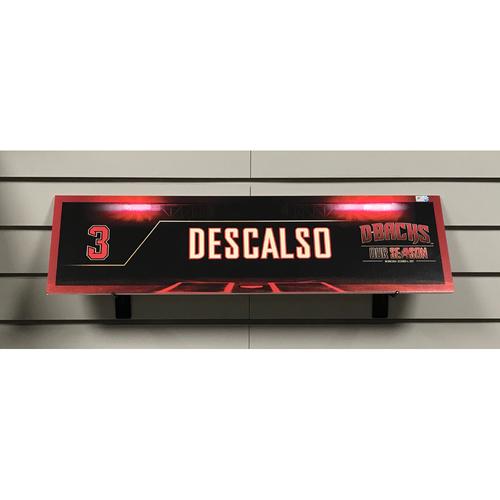 2017 NL Wild Card Daniel Descalso Game-Used Locker Nameplate
