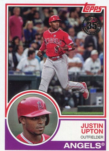 Photo of 2018 Topps '83 Topps #8355 Justin Upton