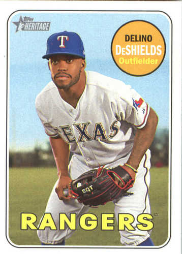 Photo of 2018 Topps Heritage #227 Delino DeShields