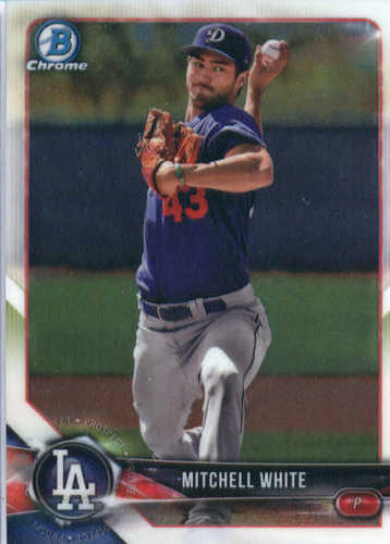 Photo of 2018 Bowman Chrome Prospects #BCP103 Mitchell White