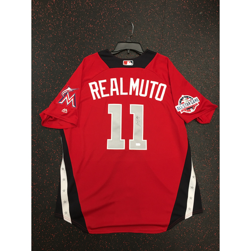 Photo of J.T. Realmuto 2018 Major League Baseball Workout Day Autographed Jersey