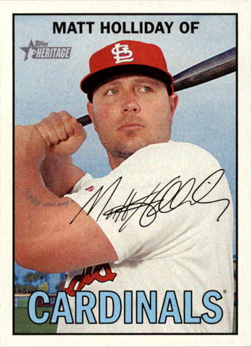 Photo of 2016 Topps Heritage #325 Matt Holliday