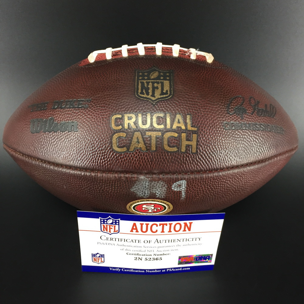 Crucial Catch - 49ers Game Used Football 2018 Season