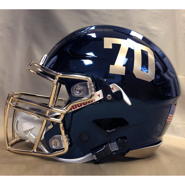 Photo of #70 Game Worn  Fear the Goat Army/Navy Game Football Helmet