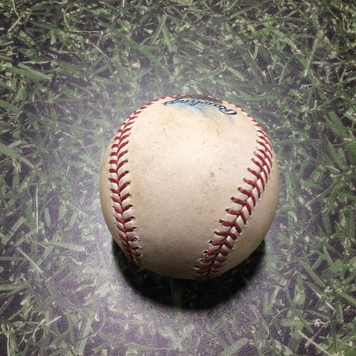 Photo of Game-Used Baseball MIN@MIL 06/25/11 - Francisco Liriano - Rickie Weeks: Strike