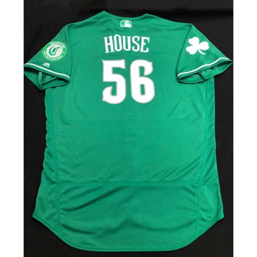 J.R. House -- Game-Used Jersey -- 2019 St. Patrick's Day