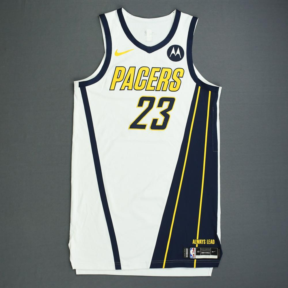 8df7cd085170 Wesley Matthews - Indiana Pacers - Game-Worn Earned Edition Jersey - 2019  Playoffs