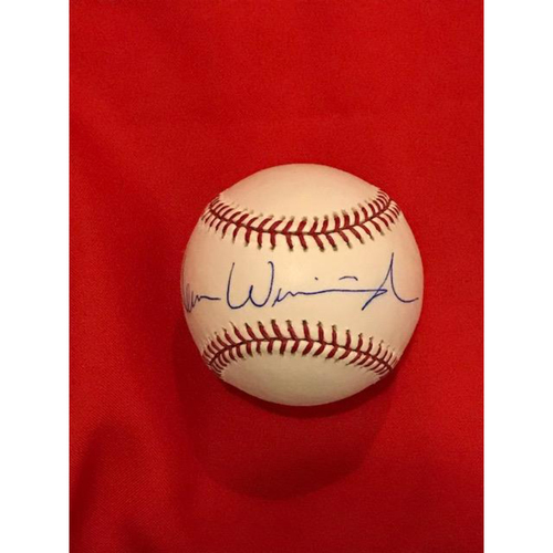 Photo of Herm Winningham Autographed Baseball