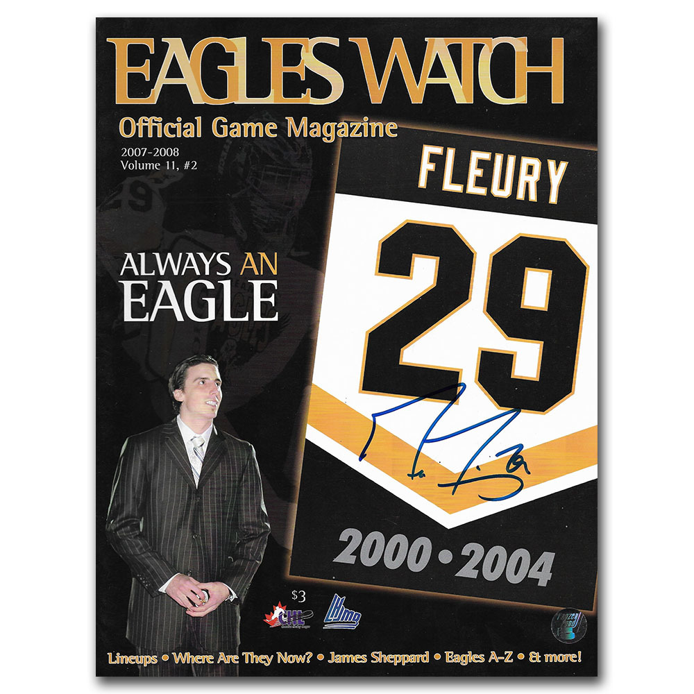 Marc-Andre Fleury Autographed Cape Breton Program - Volume 11 Issue 2