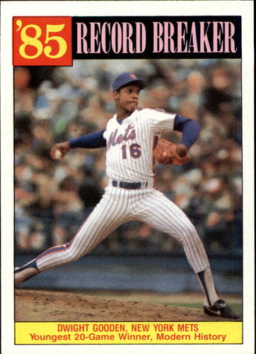 Photo of 1986 Topps #202 Dwight Gooden RB