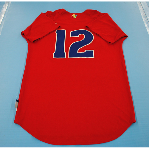 Photo of 2013 World Baseball Classic: Cuba Batting Practice Jersey #12 - Andy Ibanez - Size 42