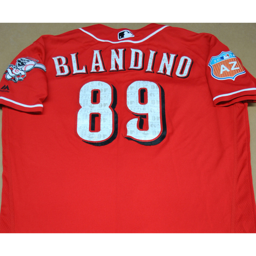 Photo of 2016 Spring Training - Spring Training Game Used Jersey - Alex Blandino (Reds)- Size- 46