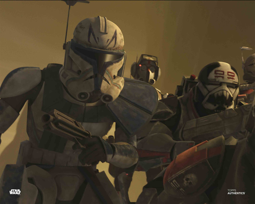 Captain Rex and Bad Batch Clone Troopers
