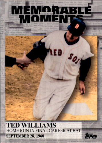 Photo of 2017 Topps Memorable Moments #MM9 Ted Williams