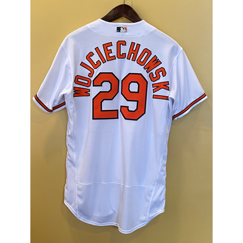 Photo of Asher Wojciechowski - Opening Day Home Jersey - Game-Used