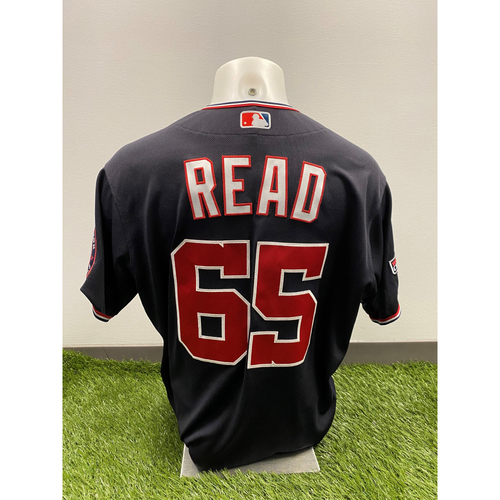 Photo of Raudy Read 2020 Game-Used World Series Champions Navy Script Jersey