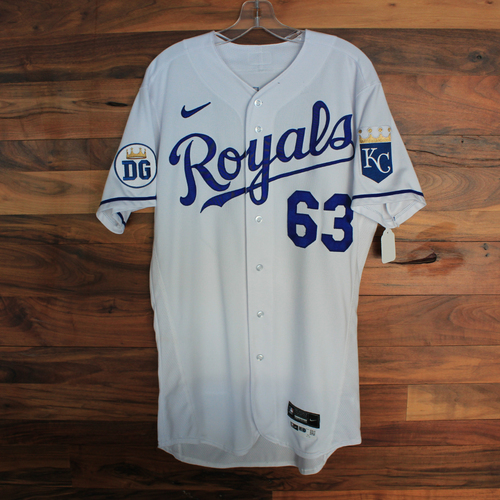 Photo of Game-Used 2020 Jersey: Josh Staumont #63 (DET @ KC 9/27/20) - Size 42