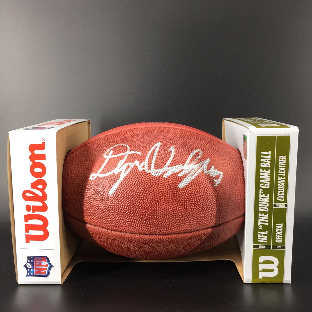 NFL - Steelers Dwayne Haskins Signed Authentic Football with 100 Seasons Logo