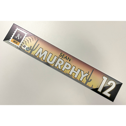 Photo of Game-Used 2021 Spring Training Locker Nameplate - Sean Murphy