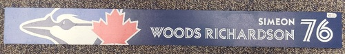 Photo of Authenticated Team Issued Locker Name Plate: #76 Simeon Woods Richardson (from Buffalo in 2021)