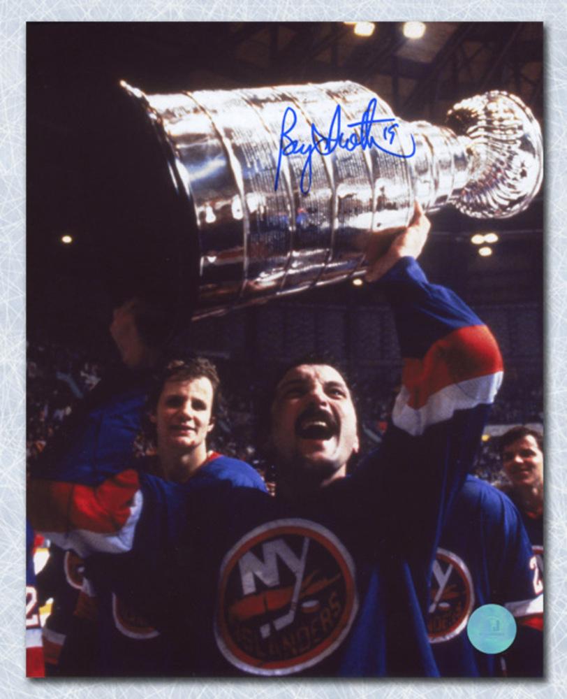 Bryan Trottier New York Islanders Autographed Stanley Cup 8x10 Photo