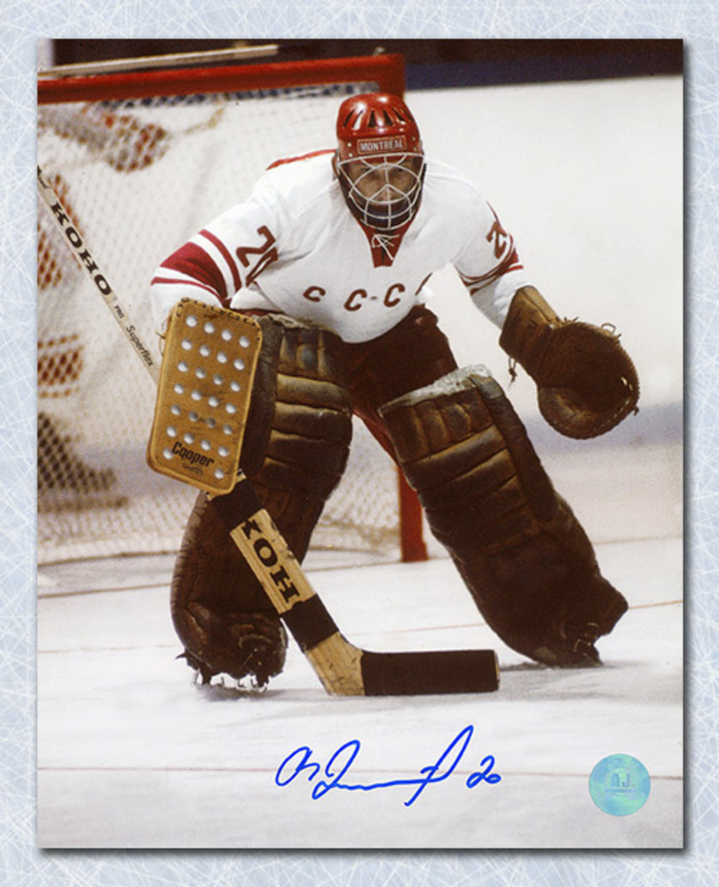Vladislav Tretiak CCCP-Russia Autographed 1972 Summit Series Action 8x10 Photo