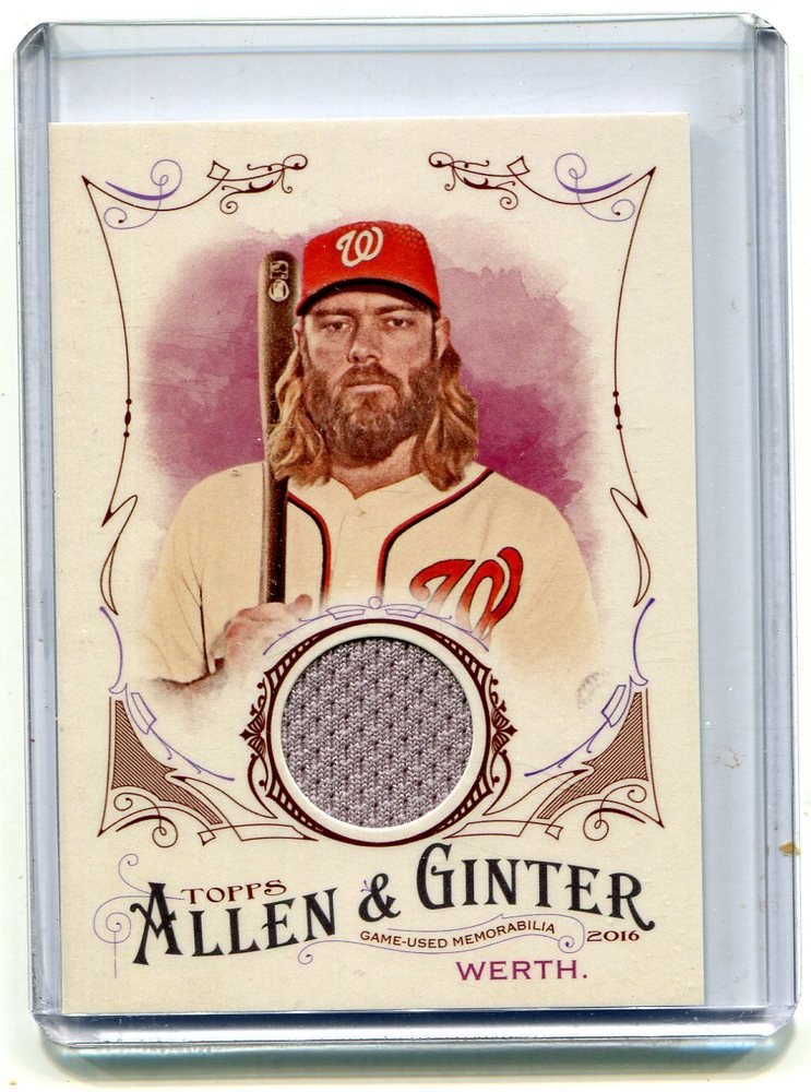 2016 Topps Allen and Ginter Relics jersey Jayson Werth