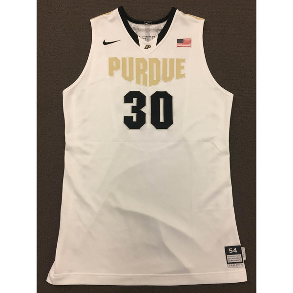 Photo of Neal Beshears #30 Purdue Men's Basketball 2011-12 White Jersey