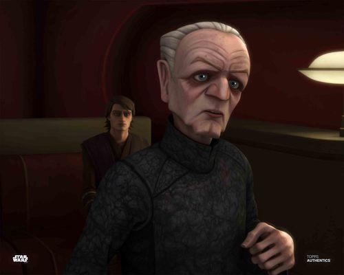 Chancellor Palpatine and Anakin Skywalker