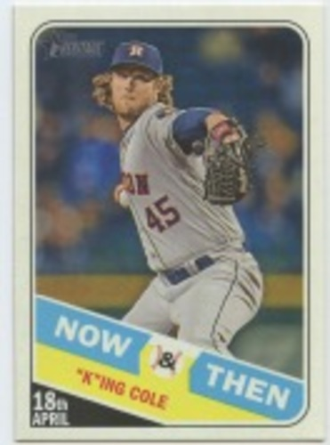 Photo of 2018 Topps Heritage Now and Then #NT4 Gerrit Cole