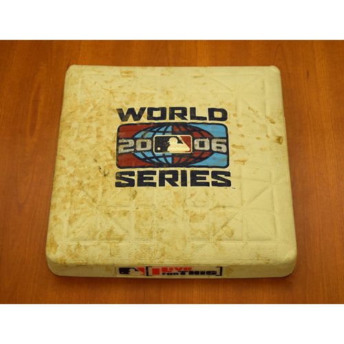 Photo of 2006 World Series Game 1 Game-Used Base - 1st Base, Used Innings 1-3