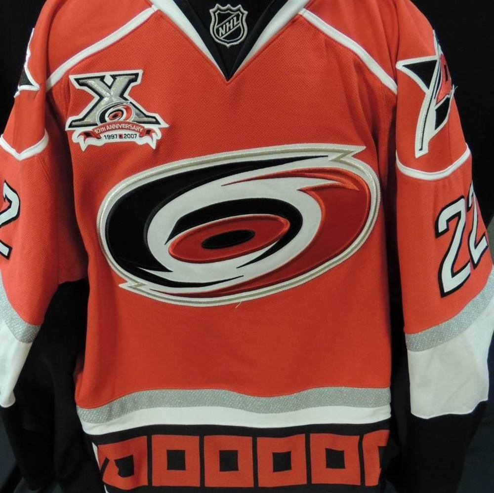 separation shoes 5ff80 48588 Carolina Hurricanes Authentic Game Worn Mike Commodore #22 ...