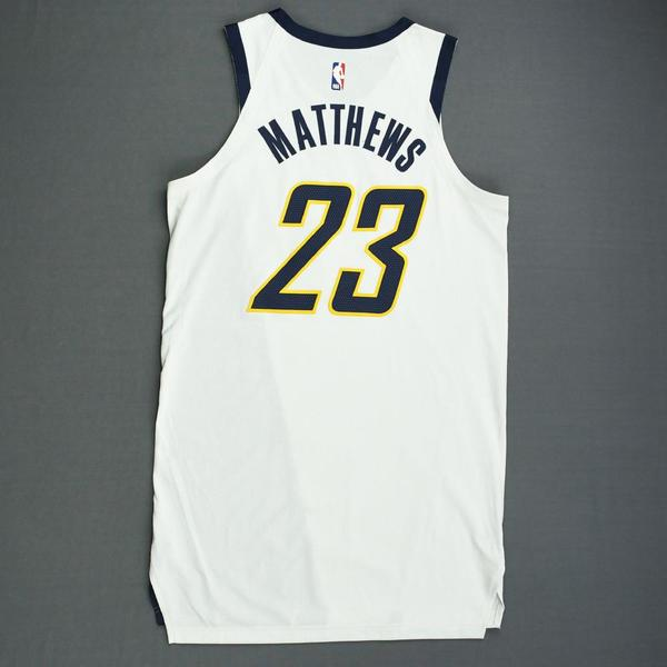 c48ddeb41a8f Wesley Matthews - Indiana Pacers - Game-Worn Earned Edition Jersey - 2019  Playoffs. Current Bid   360.00