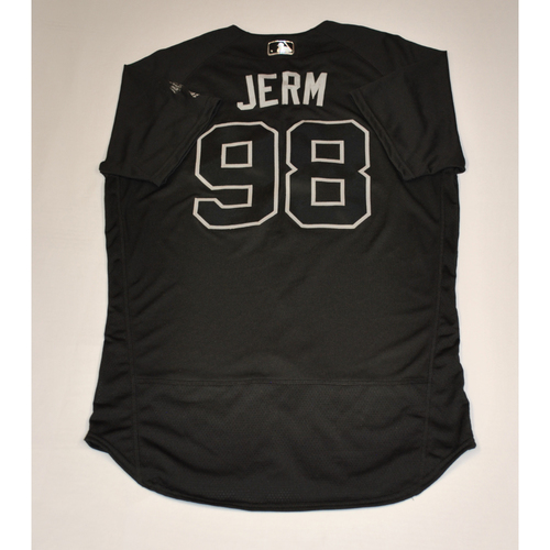 "Photo of Jeremy ""JERM"" Carrell Detroit Tigers Team-Issued 2019 Players' Weekend Jersey"