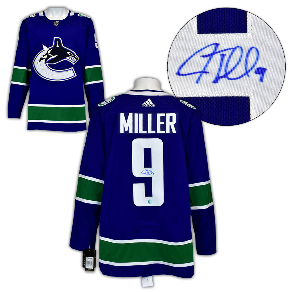 J.T. Miller Vancouver Canucks Autographed Adidas Authentic Hockey Jersey