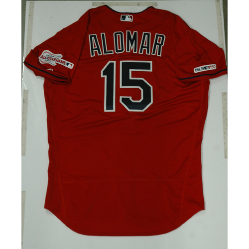 Photo of Sandy Alomar 2019 Team Issued Alternate Home Jersey