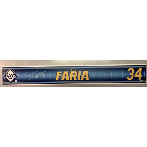 Photo of Team Issued Autographed Spring Training Locker Tag: Jake Faria