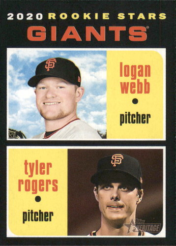 Photo of 2020 Topps Heritage #276 Logan Webb RC/Tyler Rogers RC