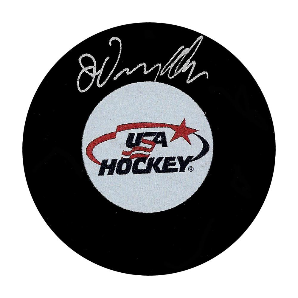 John Vanbiesbrouck Autographed Team USA Puck