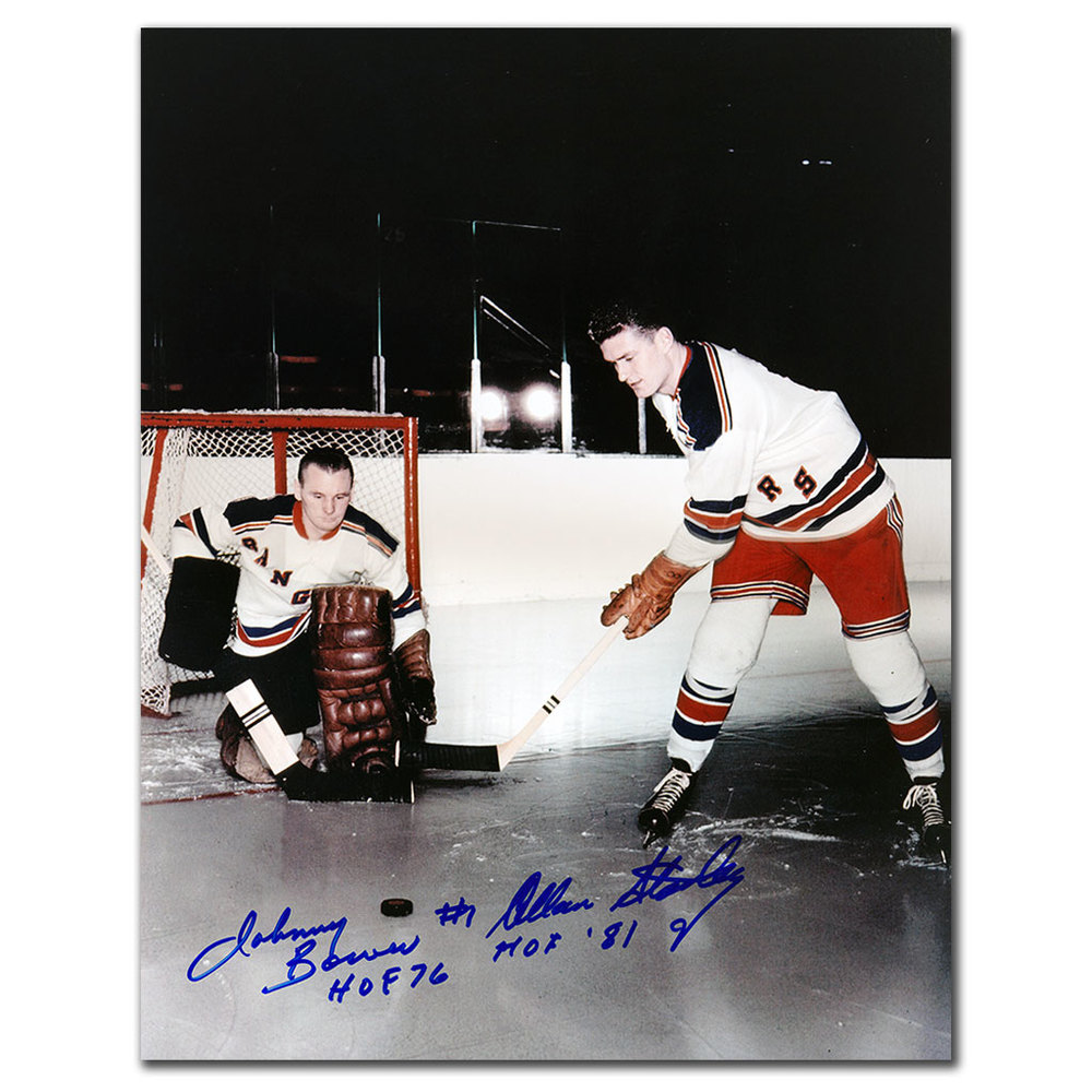 Johnny Bower & Allan Stanley New York Rangers Dual Autographed 11x14 Photo