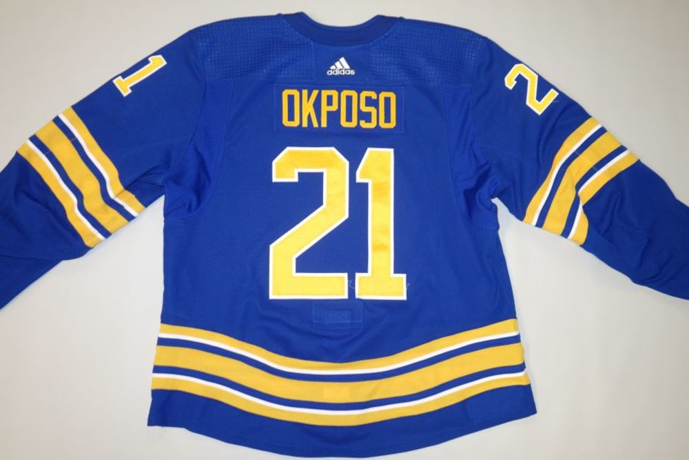 Kyle Okposo 2020-21 Buffalo Sabres Set 1 Home Jersey