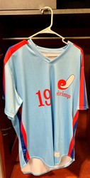 Photo of Jacksonville Expos Fauxback Jersey #19 Size 46