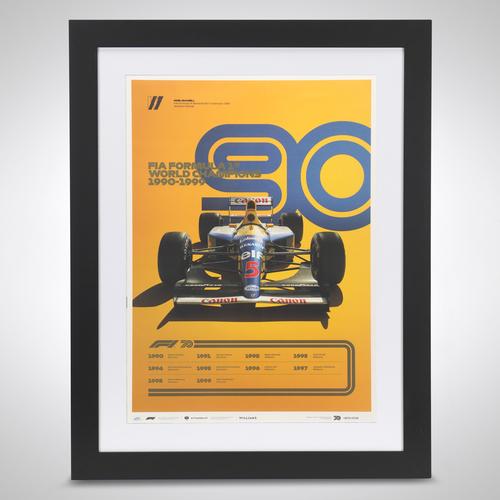Photo of World Champions Automobilist Poster 1990 -1999