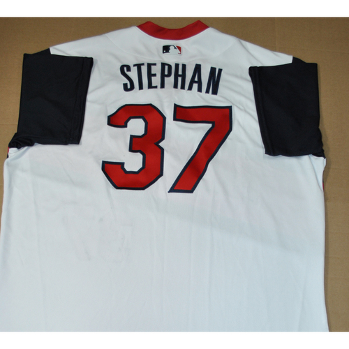 Photo of Game-used Jersey - 2021 Little League Classic - Los Angeles Angels vs. Cleveland Indians - 8/22/2021 - Great Lakes, Trevor Stephan #37