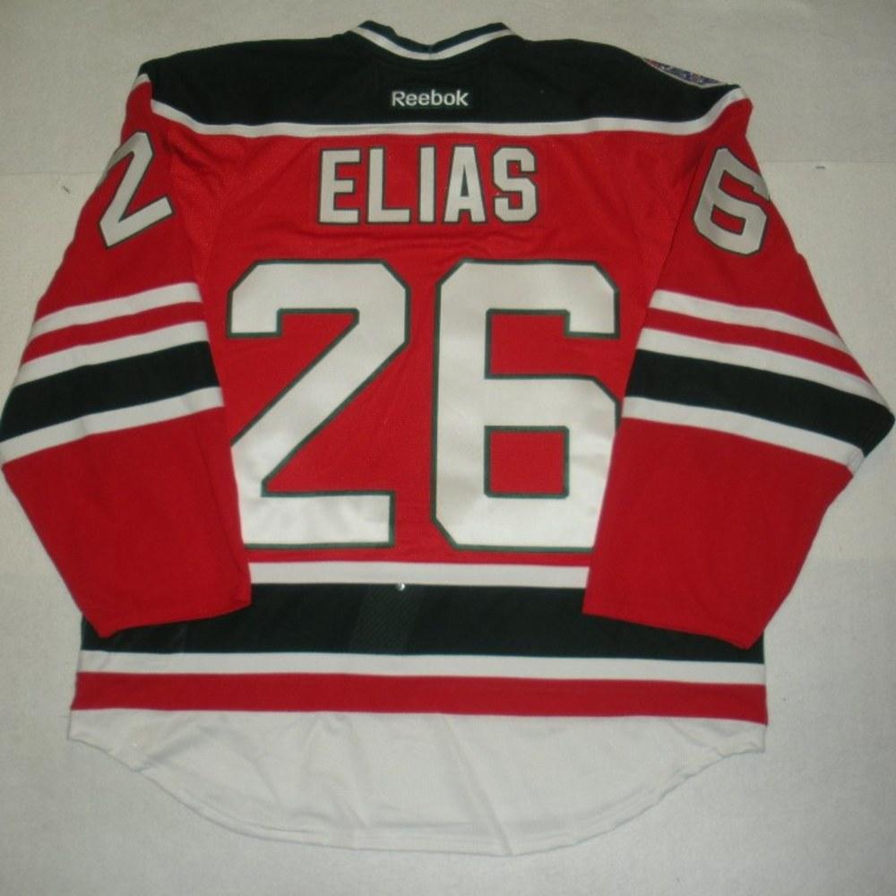 Patrik Elias - 2014 Stadium Series - New Jersey Devils - Red Game-Worn Jersey - Worn in First Period