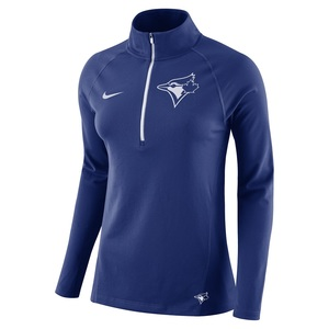 Toronto Blue Jays Women's Dri-Fit Core 1/2 Zip Long Sleeve Top by Nike